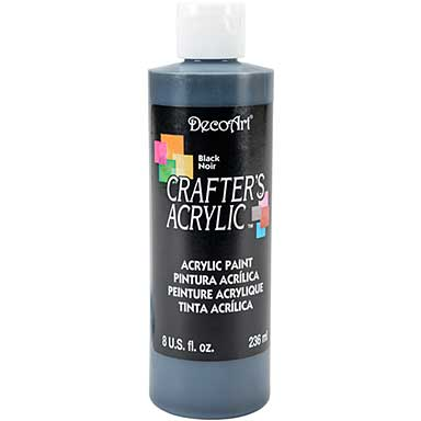 Crafters Acrylic All-Purpose Paint 8oz - Black