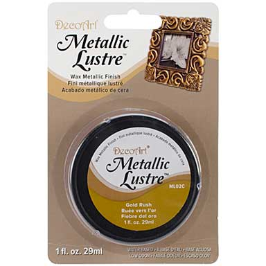 SO: Metallic Lustre Wax Finish 1oz - Gold Rush