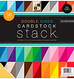 Cardstock Stack Double-Sided 12x12 58pk - Textured Solids with White Core