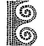 Dina Wakley Media Stencils 6x9 - Mosaic Swirl