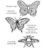 Dina Wakley Media Cling Stamps 6x9 - Scribbly Insects