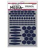 Dina Wakley Media Stencils 6x9 - Essentials