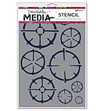 Dina Wakley Media Stencils 6x9 - Wheels