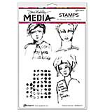 Dina Wakley Media Cling Stamps 6x9 - Positive Women
