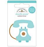 Doodlebug - Call Me Old Telephone - Doodle Pops Scrapbook Sticker
