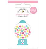 Doodlebug - GumBalls Bubble Gum Machine - Doodle Pops Scrapbook Sticker