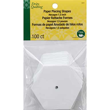 Dritz Quilting Paper Piecing Hexagon - 1.5inch 100pk
