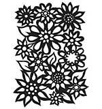 Dyan Reaveleys Dylusions Stencils 5x8 - Flower Medley
