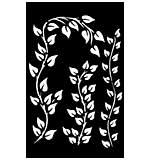 Dyan Reaveleys Dylusions Stencils 5x8 - Leaf Flourish