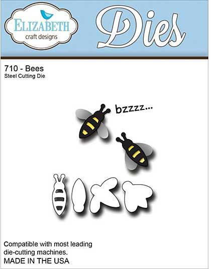 Elizabeth Craft Designs Cutting Dies - Bees Set
