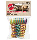Colourful 1 inch wide Spiral Springs - Cat Toy 10pk (Assorted Colours)