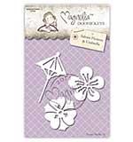PRE: Magnolia DooHickey Cutting Dies -  WWW14 Sakura Sakura Flowers Umbrella