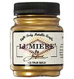 Jacquard Lumiere Metallic Acrylic Paint 2.25oz - True Gold