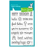 Lawn Fawn Clear Stamps 4x6 - So Much To Say