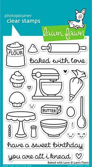 SO: Lawn Fawn Clear Stamps 4x6 - Baked With Love
