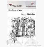 Heartfelt Creations Pre-cut Stamps - Raindrops on Roses Window