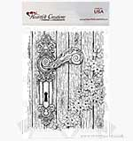 Heartfelt Creations Pre-cut Stamps - Floral Doorway and Latch