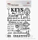 Heartfelt Creations Pre-cut Stamps - Script Key Background