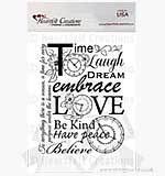 Heartfelt Creations OT14  Stamps - Embrace Time Background