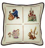SO: Beauty And The Beast Pillow Counted Cross Stitch Kit - 14X14 18 Count