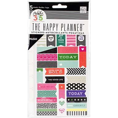 Create 365 Planner Stickers 5pk - Bold - Washi
