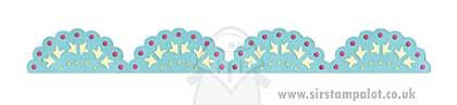 Sizzix Decorative Strip - Lace Scallop