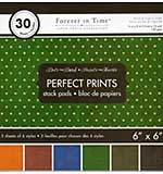 SO: Perfect Prints Stack Packs - Dark Dots (6x6 30 Assorted Sheets)