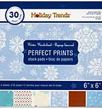 SO: Perfect Prints Stack Packs - Winter Wonderland (6x6 30 Assorted Sheets)