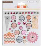 MME Indie Chic Saffron Decorative Brads - Girl (36pk)