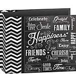 Pioneer 3-Ring Chalkboard Album 12x12 - Happiness