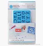 Martha Stewart Crafters Clay Silicone Mold 1pk - Alphabet