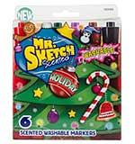 Mr Sketch Scented Washable Marker Set - Chisel Holiday (6pk)