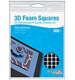 3D Foam Squares, Black 0.25 inch (126pk) from Scrapbook Adhesives