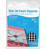 Thin 3D Foam Squares, Black MIX (217pk)  from Scrapbook Adhesives - Black (63) .43x.47 and (154) .25x.25