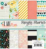 Simple Stories Paper Pad 6x6 - I Am (24 sheets, Double Sided)