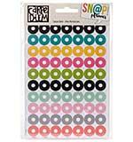 SO: Carpe Diem Hole Reinforcer Stickers 4 x 6 8pk - Assorted Colors