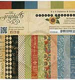 SO: Graphic 45 - 6x6 Paper Pad - French Country Patterns and Solids