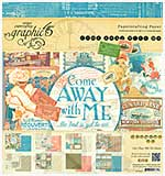 Graphic 45 - 8x8 Paper Pad - Come Away with Me
