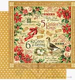 Graphic 45 12x12 Paper 12 Days of Christmas Golden Rings