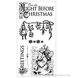 Graphic 45 Hampton Art Cling Stamp Set Night Before Christmas #1