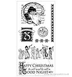 Graphic 45 Hampton Art Cling Stamp Set Night Before Christmas #2