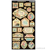 PRE:Come Away with Me - Decorative Chipboard Die-Cuts 6x12 Sheet
