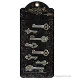 Graphic 45 - Shabby Chic Ornate Metal Keys 8PK