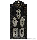 Graphic 45 - Shabby Chic Ornate Metal Key Holes 5PK