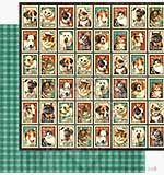 Graphic 45 12x12 Paper Raining Cats and Dogs - Mr Whiskers