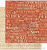 G45 12x12 Paper Twas the Night Before Xmas - Merry Mistletoe