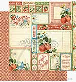 Graphic 45 12x12 Paper Time to Flourish - September Cut Apart