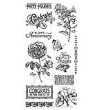 Graphic 45 Hampton Art Cling Stamp Set Time to Flourish #2
