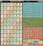 Graphic 45 - Cardstock Alphabet Stickers - Time to Flourish