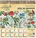 Graphic 45 - 8x8 Paper Pad - Time to Flourish Calendar Pad